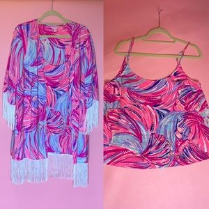 Lilly Pulitzer silk set 💝